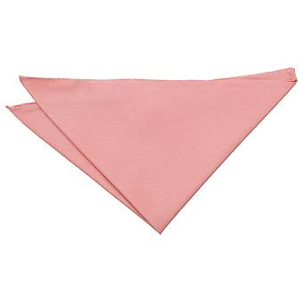 Peach Pink Plain Shantung Pocket Square