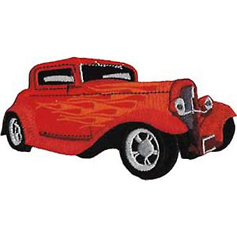 Patch - Automoblies - Red Hot Rod Iron On Gifts New Licensed p-3803