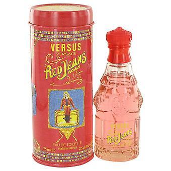 Red Jeans Eau De Toilette Spray Por Versace 401019 75 ml