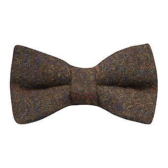 Erfgoed Check aarde bruin strikje, Tweed