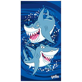 Yello Beach Towel - Sharks Design