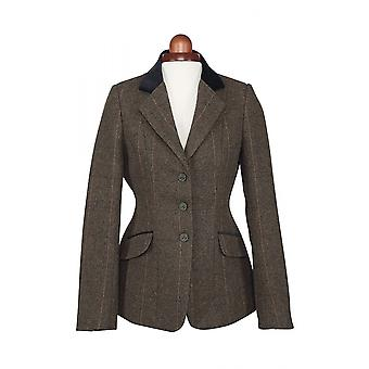 Shires Aubrion Saratoga Womens Riding Jacket - Green Check
