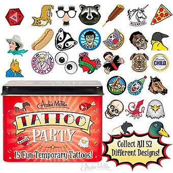 Caractéristiques - Archie McPhee - Tattoo Party - 15 In Tin 12639