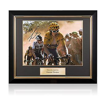 Geraint Thomas ondertekende Tour de France foto: Dutch Corner. Deluxe frame