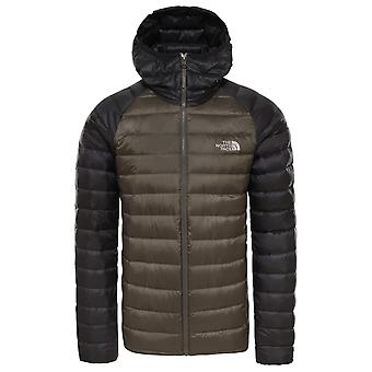 The North Face nieuwe taupe groene mens Trevail Hooded Jacket