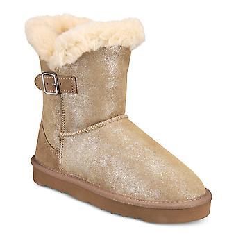 نمط وشركاه النساء صغيرة فو الفراء مغلقة القدم الكاحل أحذية الطقس البارد