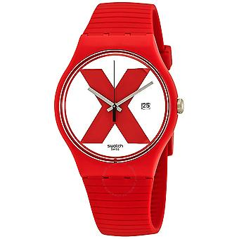 Swatch XX-RATED RED Silicone Unisex Watch SUOR400