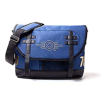 Fallout FALLOUT 76 Vault-tec Logo Messenger Bag - Unisex - One Size - Blue/Black (MB645372FAL) Casual Backpack - 42 cm - Blue