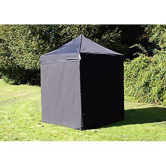 Vouwtent/Easy up tent FleXtents PRO 2x2m Zwart, inkl. 4 zijwanden