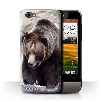 STUFF4 Case/Cover for HTC One V/Bear/Wildlife Animals