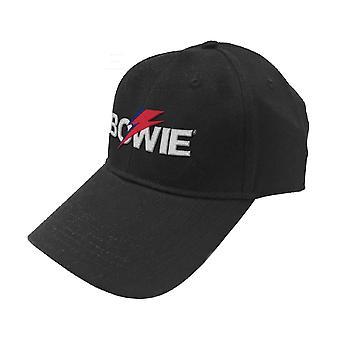 David Bowie Baseball Cap Aladdin Sane Bolt Logo nuevo Oficial Black Strapback