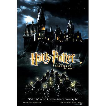 Harry Potter ja Sorcerer ' s Stone (Advance Style B kaksipuolinen) alkuperäinen elokuva juliste