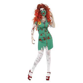 Donna zombi Scrub infermiere infermiere Halloween Abito Fantasia Costume