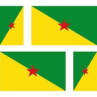 4 X Sticker Sticker Sticker Car Motorcycle Valise Pc Portable Flag Guyana Guyana