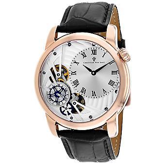 Christian Van Sant Men-apos;s Sprocket Auto-Quartz Silver Dial Watch - CV1545