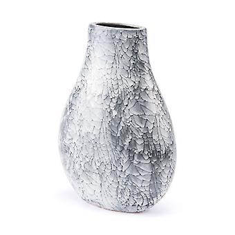 """8.9"""" X 5.1"""" X 12.6"""" 黒と白のセラミック大理石の花瓶"""