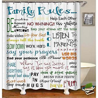 Family Rules Shower Curtain