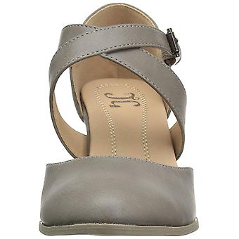 Journee Collection Womens Ainsli Leather Round Toe Ankle Strap Mary Jane Pumps