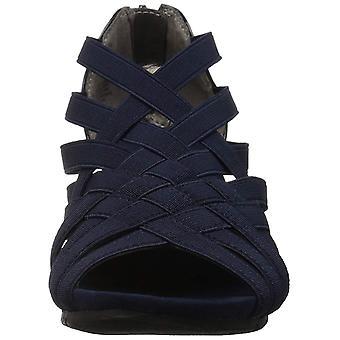 Bandolino Women's GILLMIRO Wedge Sandal, Navy, 5 M US
