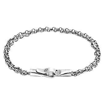 Anker und Crew Mainsial Single Segel Kette Armband - Silber