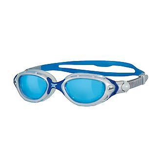 Zoggs Predator Flex Schwimmbrille Perle / blau 180 Grad periphere Vision