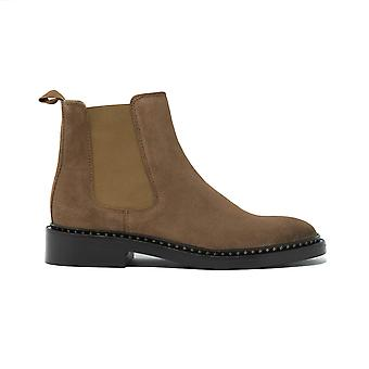 Walk london womens darcy star chelsea boot in brown suede