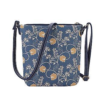 Jane Austen sininen olkapää rinta reppu laukku on signare kuva kudos/rinta reppu-Aust