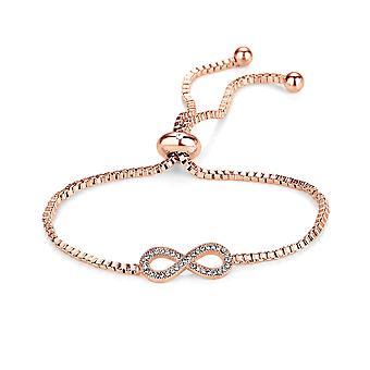 Bracelet d'amitié rose or infini créé avec swarovski® cristaux