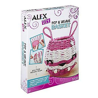 Alex DIY Pop & Weave Basket Kids Art and Craft Activity