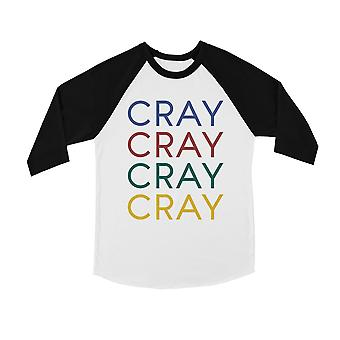 365 Printing Cray Youth Baseball Shirt Gag Gift For Humor Raglan Tee For Teens