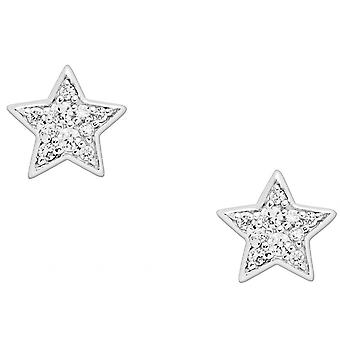 Fossil earrings JFS00152040 - STERLING SILVER Silver CrystalS Transparent
