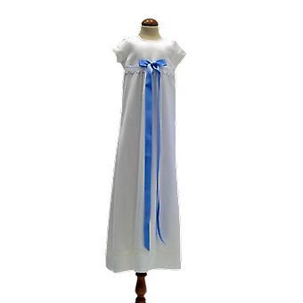 Dopklänning  Med Kort ärm, Baby-blå Bred Rosett  Sess.ka