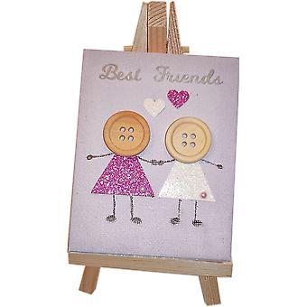 Best Friends Canvas - Purple & White by Wee Bee Gifts