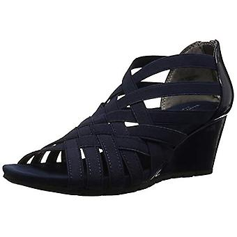 Bandolino Women's GILLMIRO Wedge Sandal, Navy, 5.5 M US