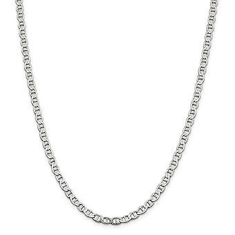 925 Sterling Silber 4,75mm poliert flach nautischen Schiff Mariner Anker Kette Armband Schmuck Geschenke für Frauen - Länge: 7
