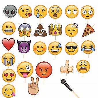 Emoji Face Selfie Smiley Party Rekvisitter - Collection 2
