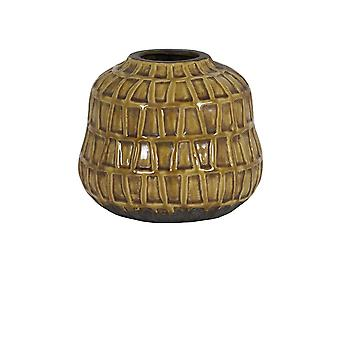 Lys & Levende Vase Deco 25x21.5cm Menzo Keramikk Ocher