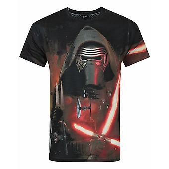 Star Wars Force Awakens Kylo Ren Lightsabre Sublimation Men's T-Shirt