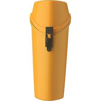 Witz het Wrapper lichtgewicht waterdichte lenzenvloeistof geval met Carabiner - geel