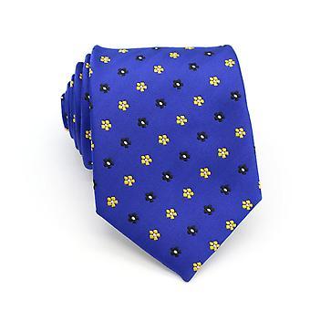 الأزرق والأصفر ditsy الأزهار ربطة العنق القياسية عرض التعادل