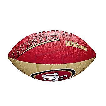 Wilson NFL Team Logo San Francisco 49ers Junior American Football Rot
