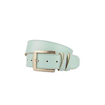 Luxury Light Blue Women's Belt With Crossed Loop