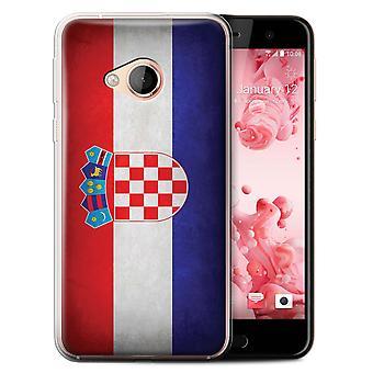 STUFF4 Gel TPU Case/Cover for HTC U Play/Alpine/Croatia/Croatian/Flags