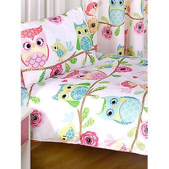 Owl and Friends Duvet Cover & Pillowcase Set