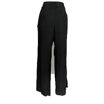 Anybody Women's Pants Tall Cozy Knit Wide-Leg Pants Black A347174