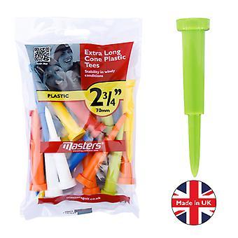 Masters Cone Tees Ex Long 2 3/4 Mixed bag 15