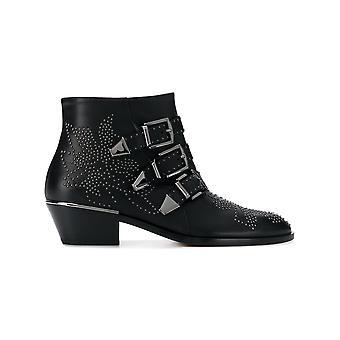 Chloé C16a134750zz Women's Black Leather Ankle Boots