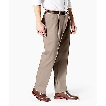 Dockers Men's Classic Fit Signature Khaki Lux Cotton Stretch Pleated Pants, t...
