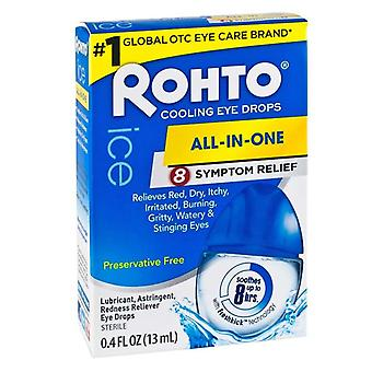 Rohto all-in-One 8 Symptomentlastung Kühlung Auge Tropfen, 0,4 oz