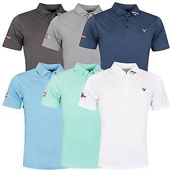 Callaway Golf Mens 2020 Odyssey Birdseye Soft Touch Swing Tech Golf Polo Shirt